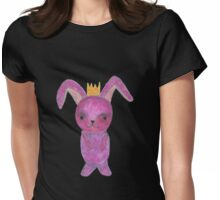 pink bunny princess with crown Womens Fitted T-Shirt