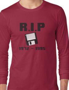 RIP Floppy Disk - 1972-1995 Long Sleeve T-Shirt