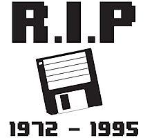 RIP Floppy Disk - 1972-1995 Photographic Print