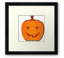 """Halloween images """"Sly Pumpkin"""" Framed Print"""