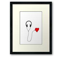 Listen your heart Framed Print
