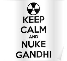 nuclear Gandhi! Poster