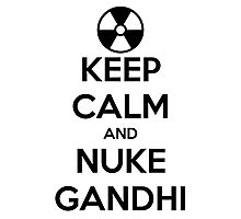 nuclear Gandhi! Photographic Print