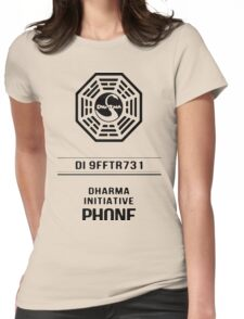Dharma Phone Womens Fitted T-Shirt