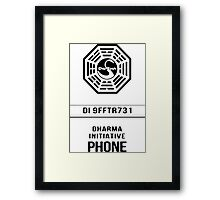 Dharma Phone Framed Print