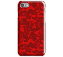 BAPE Red Camouflage iPhone Case/Skin