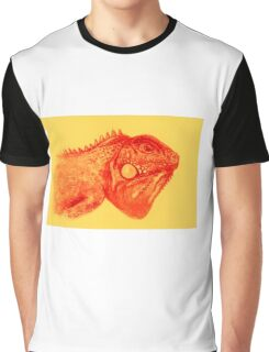 Colorful iguana watercolor painting Graphic T-Shirt