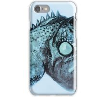 Colorful iguana watercolor painting iPhone Case/Skin