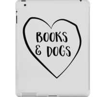Love books and dogs iPad Case/Skin