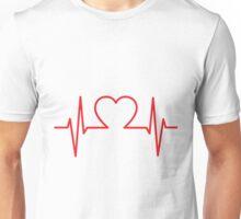 Heartbeat of Love ECG Wave Unisex T-Shirt