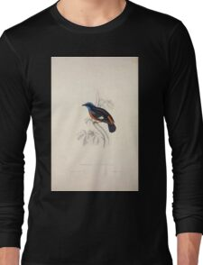 John Gould A Century of Birds from the Himalaya Mountains 1831 019 Phoenicura Ciclorhyncha Long Sleeve T-Shirt