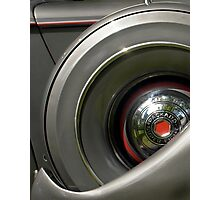 Spare Wheel on a 1938 Packard Super Eight  Photographic Print