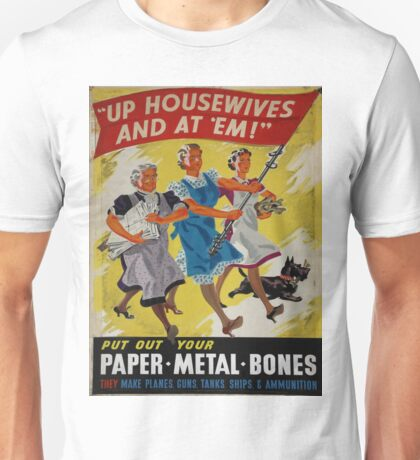 Vintage poster - Up Housewives and at'em Unisex T-Shirt