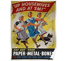 Vintage poster - Up Housewives and at'em Poster
