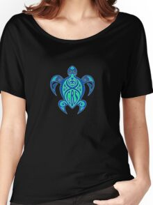 GBS Turtle Green & Blue Women's Relaxed Fit T-Shirt