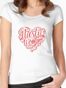 who love natsy women Women's Fitted Scoop T-Shirt