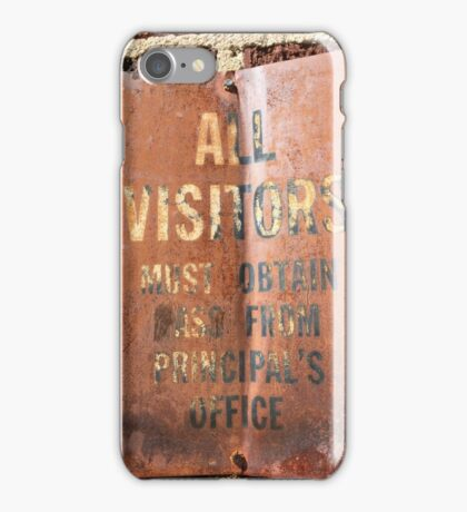 All Visitors Must Obtain Pass iPhone Case/Skin