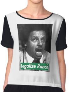 Legalize Ranch - Green - Eric Andre Picture Chiffon Top