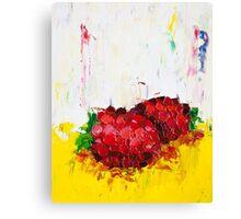 Slice of Raspberry Canvas Print