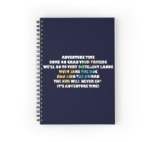 Adventure Time Spiral Notebook