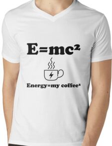Energy=my coffee²    Mens V-Neck T-Shirt