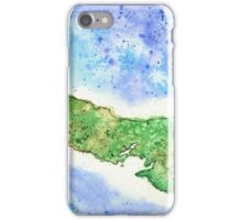 Prince Edward Island Watercolor Map - Giclee Print of Hand Painted Original Art iPhone Case/Skin