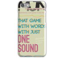 MJN Air: Word Games #4 iPhone Case/Skin