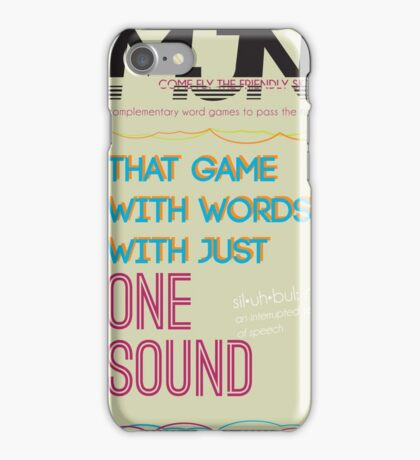 MJN Air: Word Games #4 iPhone Case/Skin