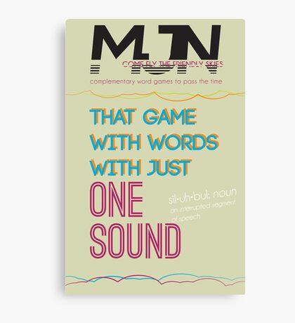 MJN Air: Word Games #4 Canvas Print