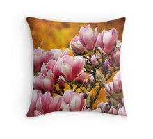 Sunset Magnolia - Full Blooms. Throw Pillow