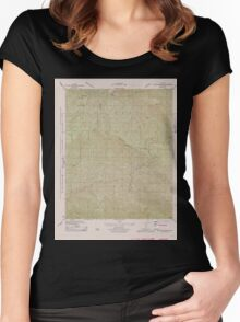 USGS TOPO Map California CA Big Pine Mountain 302400 1943 31680 geo Women's Fitted Scoop T-Shirt