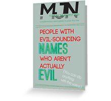 MJN Air: Word Games #1 Greeting Card