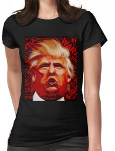 NEVER TRUMP - Dump Deplorable Dictator Drumpf Womens Fitted T-Shirt