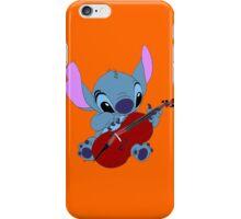 Stitch and a cello orange  iPhone Case/Skin