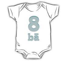Baby learns to say the number eight in Chinese blue One Piece - Short Sleeve