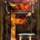 Steampunk - Alphabet - F is for Flying Machine by Mike  Savad