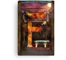 Steampunk - Alphabet - F is for Flying Machine Canvas Print