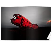 Iceland Dc-3 Plane Wreck Poster