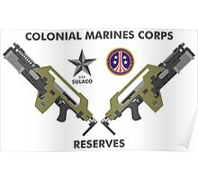 Colonial Marines Corps Reserves Poster