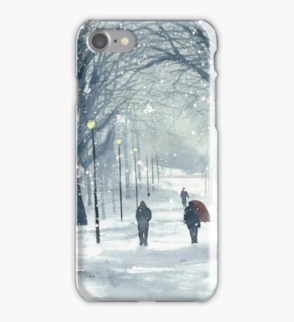 Meadows, Winter Day iPhone Case/Skin