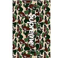 Supreme x A Bathing Ape Bape Camo Photographic Print
