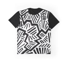 Cool Black & White Pattern Graphic T-Shirt