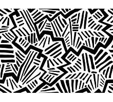 Cool Black & White Pattern Photographic Print