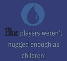 Blue players need hugs by ianablakeman