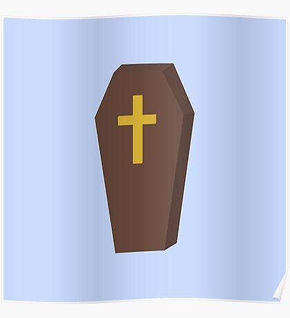 Halloween coffin with cross Poster