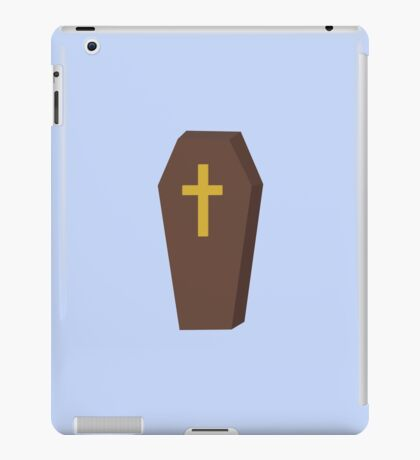 Halloween coffin with cross iPad Case/Skin