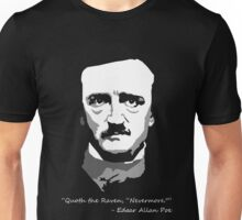 Edgar Allen Poe - Black and White Unisex T-Shirt