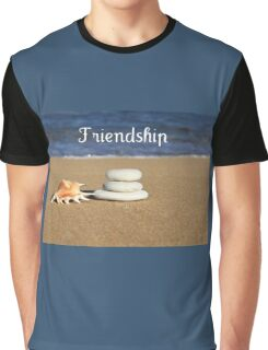 Sandy Sea shore Friendship Graphic T-Shirt