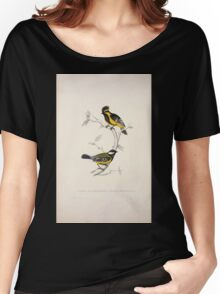 John Gould A Century of Birds from the Himalaya Mountains 1831 029 Parus Xanthogenys and Monticolus Women's Relaxed Fit T-Shirt