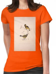 John Gould A Century of Birds from the Himalaya Mountains 1831 029 Parus Xanthogenys and Monticolus Womens Fitted T-Shirt